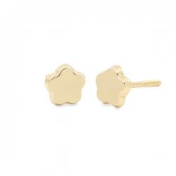 Pendientes-Eles-bebé-margarita-lisa-Oro-amarillo-18k