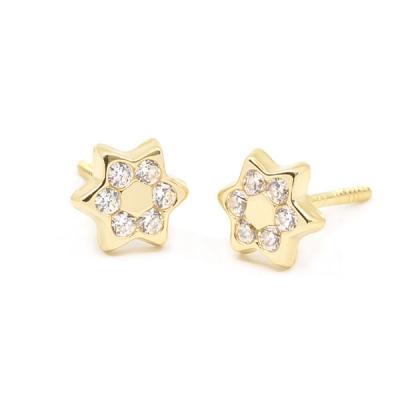 Pendientes-eles-niña-oro-amarilloo-18k-estrella-circonitas