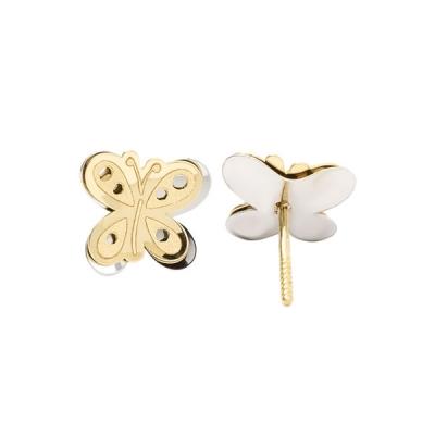 Pendientes Eles- niña- mariposa- Oro- amarillo-Oro-Blanco 18K